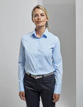 Ladies Stretch Fit Cotton Poplin Long Sleeve Shirt