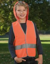 Kids` Hooded Safety Vest EN 1150