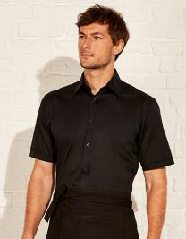 Men`s Tailored Fit Bar Shirt Short Sleeve