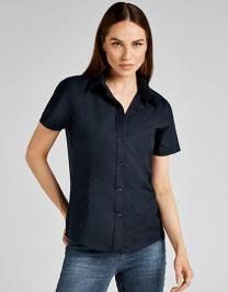Women`s Tailored Fit Workwear Oxford Shirt Short Sleeve