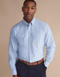Men`s Classic Long Sleeved Oxford Shirt