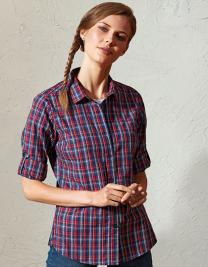 Sidehill Check Womens Long Sleeve Cotton Shirt