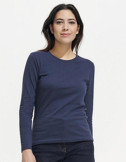 Women`s Long-Sleeve T-Shirt Imperial